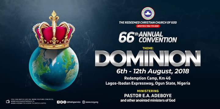 DAY 7 RCCG HOLY GHOST CONVENTION 2018 - FAREWELL SERVICE – LIVE BROADCAST - DOMINION